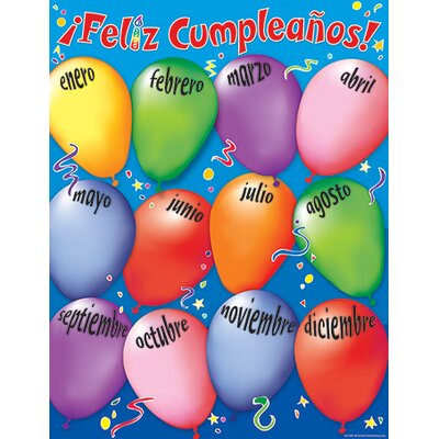 Teacher Created Resources Happy Birthday Spanish Chart