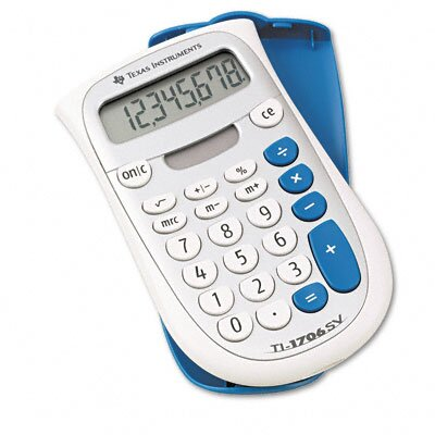Texas Instruments TI-1706SV Handheld Pocket Calculator 8-Digit LCD
