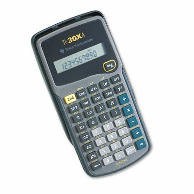 Texas Instruments TI-30XA Scientific Calculator 10-Digit LCD