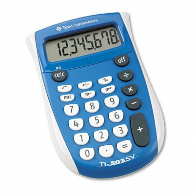 Texas Instruments TI-503SV Pocket Calculator 8-Digit LCD