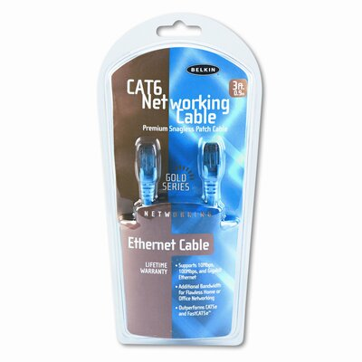 Belkin High Performance Cat6 UTP Patch Cable, 3 Ft.