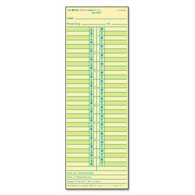 Tops Business Forms Time Card for Cincinnati / Lathem / Simplex/ Acroprint, Semi-Monthly, 500/Box