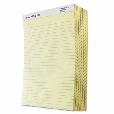 Tops Business Forms The Legal Pad Legal Rule Perforated Pads, Letter, 50 Sheet Pads, 12/Pack
