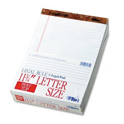 Tops Business Forms Perforated Pads, Legal Rule, Letter, 50 Sheets, 12-Pack