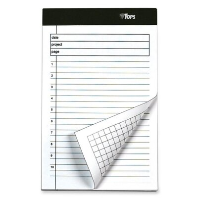 "Tops Business Forms Planning Pad,Numbered Ruled, 5""x8"", 40 Sheets per Pad, 6 per Pack, White, 2013"