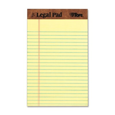 Tops Business Forms The Legal Pad Jr. Ruled Perforated Pads, 50 Sheet Pads, 12/Pack