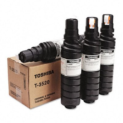Toshiba T3520 Toner Bottle, 15000 Page-Yield, 4/Pack