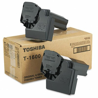 Toshiba T1600 Toner Cartridge, 2 Cartridges, Black