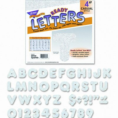 Trend Enterprises Ready Letters Sparkles Letter Set, 71/Set