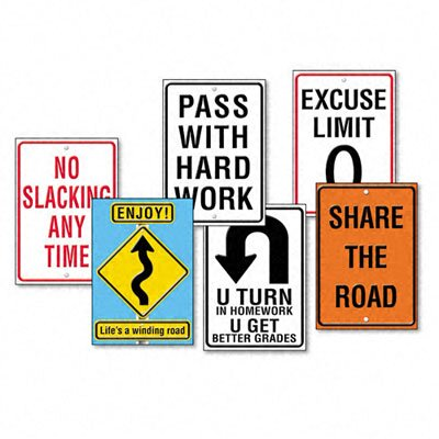 "Trend Enterprises Assorted ""Life Signs"" Themed Motivational Prints, 6/Pack"
