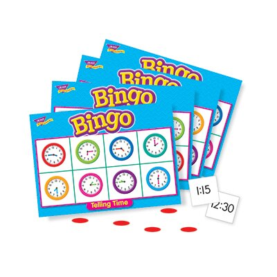 Trend Enterprises Bingo Telling Time Ages 6 & Up