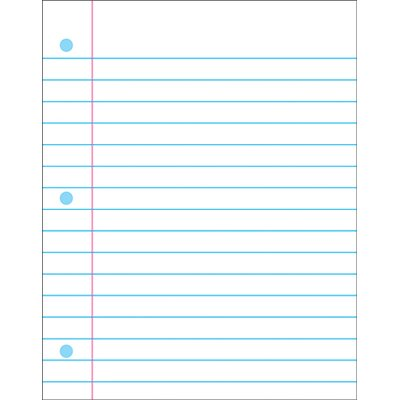 Trend Enterprises Wipe-off Chart Notebook Paper
