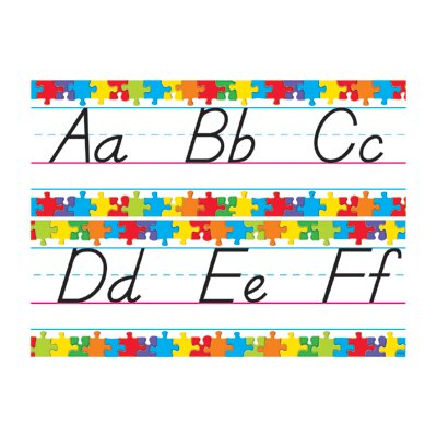 Trend Enterprises Bb Set Jigsaw Manuscript Alphabet