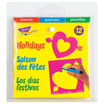 Trend Enterprises Stencils Holidays