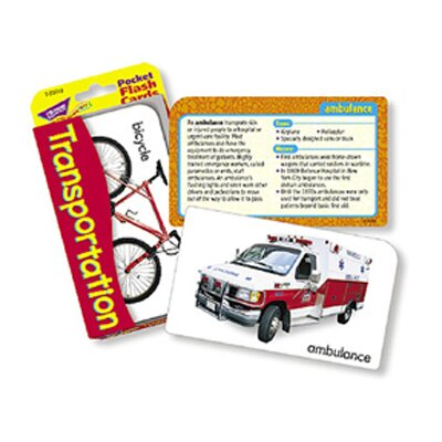 Trend Enterprises Pocket Flash Cards Transportation