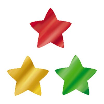 Trend Enterprises Supershapes Colorful Foil Stars