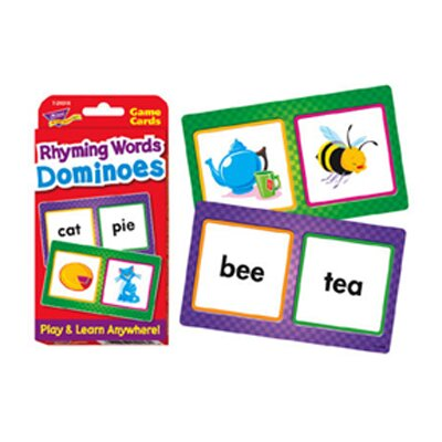 Trend Enterprises Challenge Cards Rhyming Words Domin