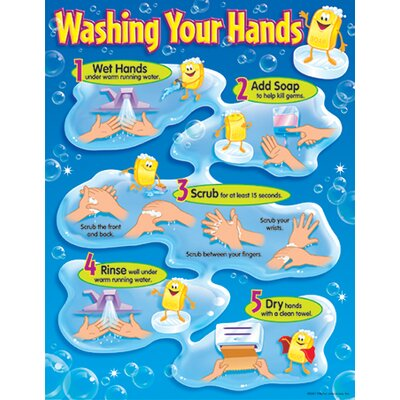 Trend Enterprises Chart Washing Your Hands Gr Pk-5