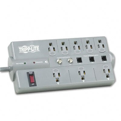 Tripp Lite Surge Suppressor, 8 Outlet, Rj11, Coax, 8Ft Cord, 2160 Joules