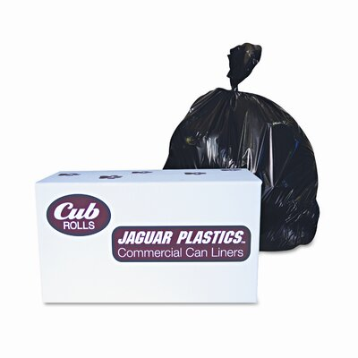 Jaguar Plastics® Industrial Drum Liners, 2.7Mil, 38 X 63, 1 Roll of 50/Carton