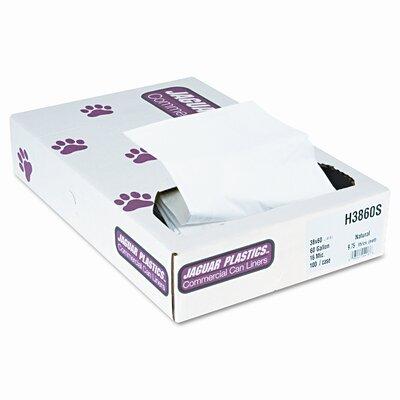 Jaguar Plastics® Super Extra-Heavy Liners, 100/Carton