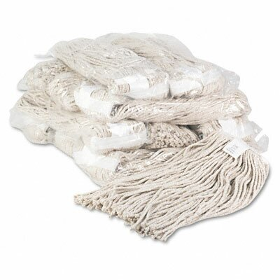Unisan Premium Cut-End Wet Mop Heads, Cotton, 20-Oz., 12/Carton