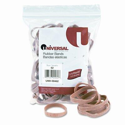 Universal® Rubber Bands, Size 62, 1/4 x 2-1/2, 520 per 1lb Box