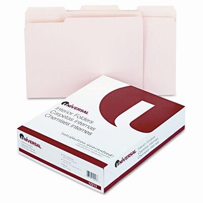 Universal® Recycled Interior File Folders, 100/Box