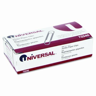 Universal® Nonskid Paper Clips, 100/Box