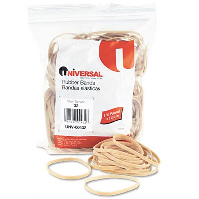 Universal® Rubber Bands, 205 Bands/0.25 lb Pack