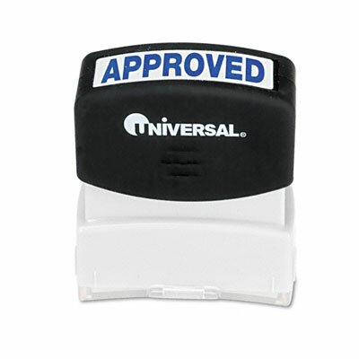 Universal® Message Stamp, Approved, Pre-Inked/Re-Inkable
