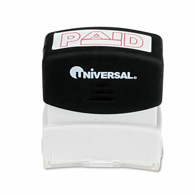 Universal® Message Stamp, Paid, Pre-Inked/Re-Inkable