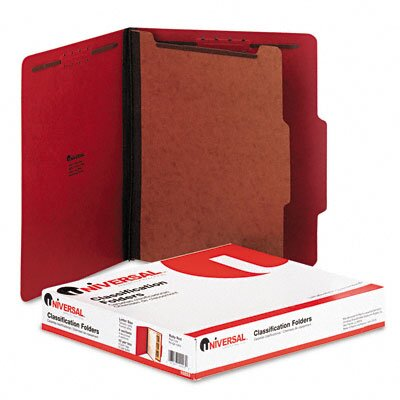 Universal® Pressboard Classification Folder, Letter, 10/Box
