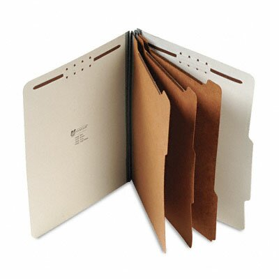 Universal® Pressboard Classification Folder, Letter, Eight-Section, 10/Box