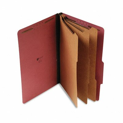 Universal® Pressboard Classification Folder, Legal, Eight-Section, 10/Box