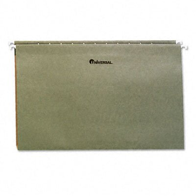 Universal® One Inch Box Bottom Pressboard Hanging Folder, 25/Box