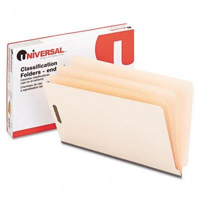 Universal® Manila End Tab Folders with Full Cut, 10/Box