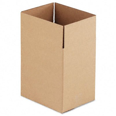 Universal® Corrugated Kraft Fixed-Depth Shipping Carton,25/Bundle