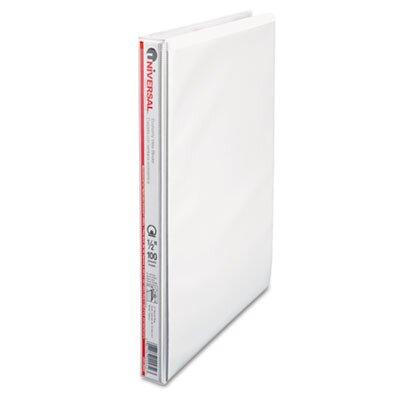 Universal® Round Ring Economy Vinyl View Binder, White