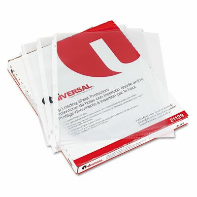 Universal® Top-Load Poly Sheet Protectors, 50/Box
