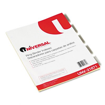 Universal® Economical Insertable Index, 6 Sets/Pack