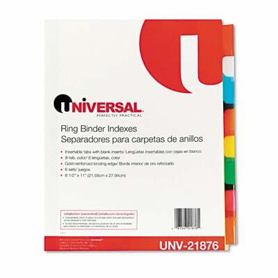 Universal® Extended Insert Indexes, 6 Sets/Box