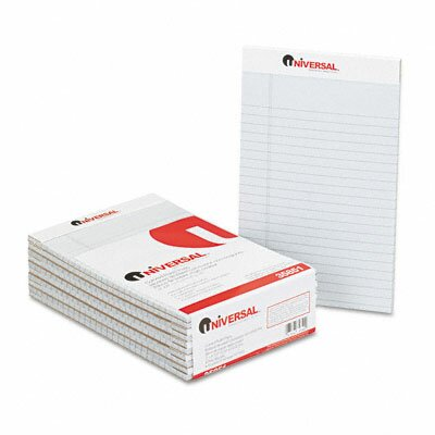 Universal® Colored Perforated Note Pads, Wide Rule, 5 x 8, 50-Sheet, 12 per pack
