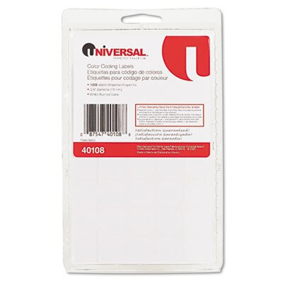 Universal® Permanent Self-Adhesive Color-Coding Labels, 1008/Pack