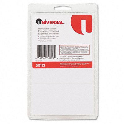 Universal® Removable Self-Adhesive Multi-Use Labels, 120/Pack