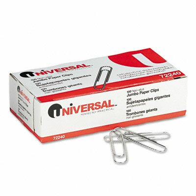 Universal® Nonskid Paper Clips, 100/Box, 10 Boxes/Pack