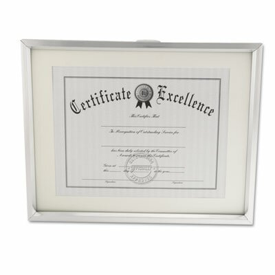 Universal® Plastic Document Frame for 11 X 14 Insert with Mat