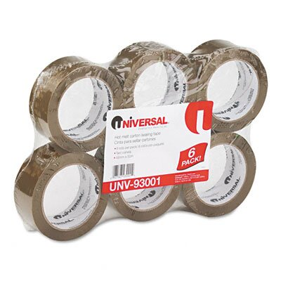 Universal® Heavy-Duty Box Sealing Tape, 6/Box