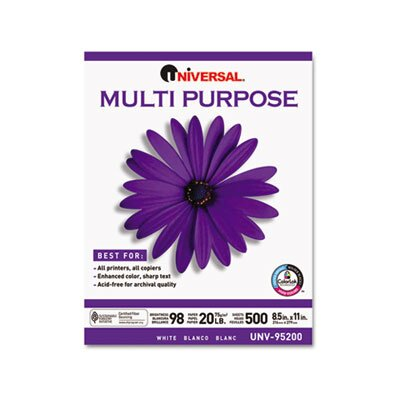 Universal® Multipurpose Paper, 5000 Sheets/Carton