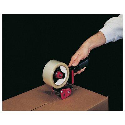Universal® Handheld Box Sealing Tape Dispenser in Black and Red